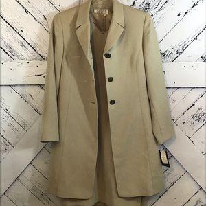 Petite Sophisticate Dress & Overcoat Set NWT